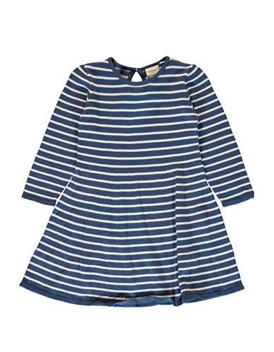 Name It Striped A-Line Dress-BLUE STRIP-2T