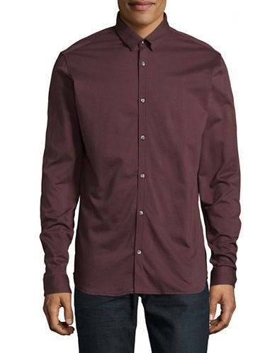 Jack And Jones Premium JprKnit Long Sleeve Shirt-BROWN-X-Large