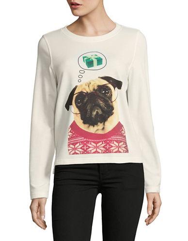 Only Oh Deer Fleece Sweatshirt-NATURAL-X-Small