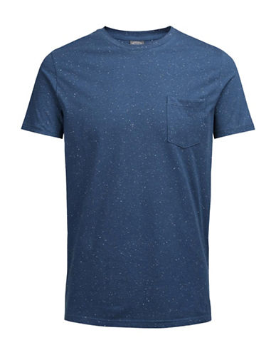 Jack & Jones Short-Sleeve Tee-BLUE-Large