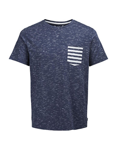 Jack & Jones Short Sleeve Tee-BLUE-Medium