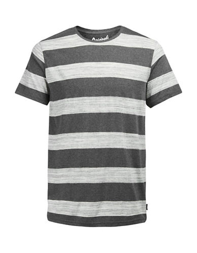 Jack & Jones Striped Short Sleeve Tee-GREY-X-Large