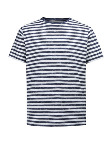 Jack & Jones Striped Short Sleeve Tee-BLUE-XX-Large