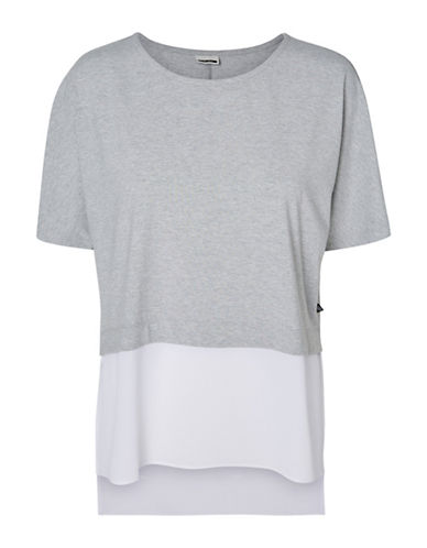 Noisy May Molly Short Sleeve Top-MEDIUM GREY-Medium