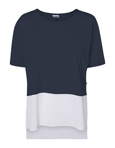 Noisy May Molly Short Sleeve Top-NAVY BLAZE-Medium