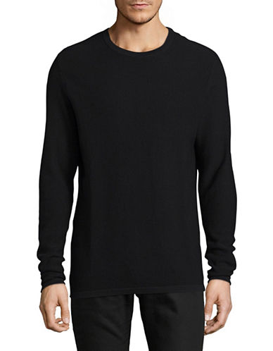 Jack And Jones Premium Crew Neck Sweater-BLACK-X-Large