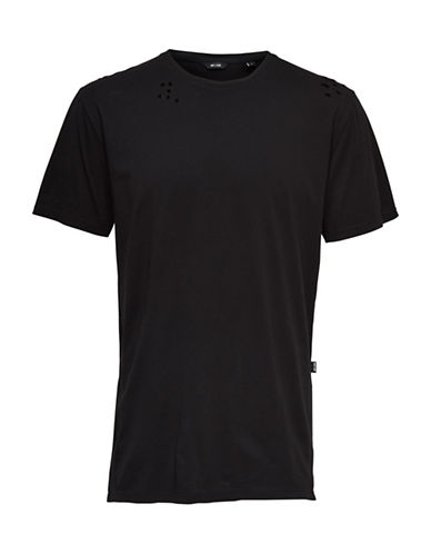 Only And Sons Destroyed Long Tee-BLACK-Medium