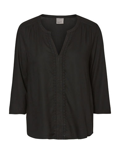 Vero Moda Harriet Mano Top-BLACK-Medium