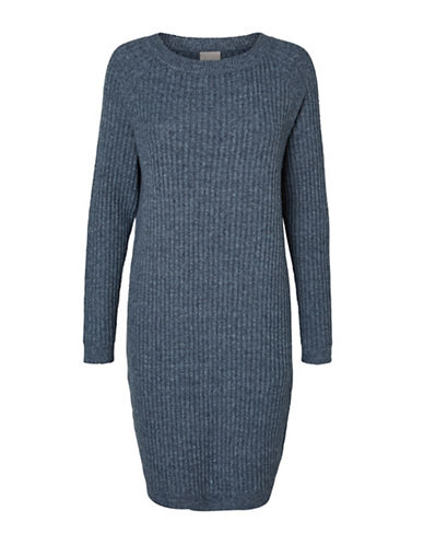 Vero Moda Nanny Sweater Dress-BLUE-Medium