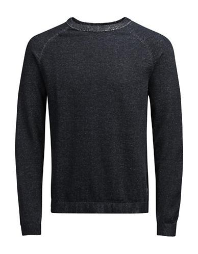 Jack & Jones Long Sleeve Cotton Sweatshirt-CHARCOAL-X-Large