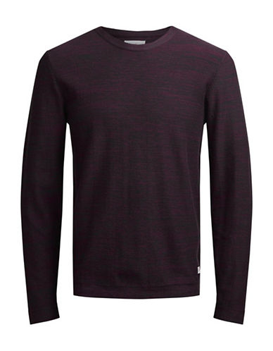 Jack & Jones Knit Crew Neck Cotton Sweater-RED-Medium