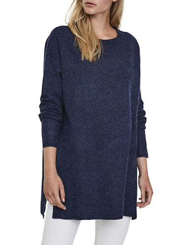 Vero Moda Brilliant Long Sweater-BLUE-Large