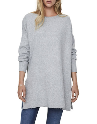 Vero Moda Brilliant Long Sweater-GREY-Medium