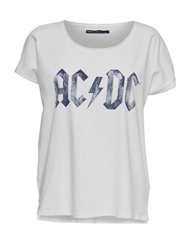 Only AC-DC Graphic Cotton Tee-BRIGHT WHITE-X-Small