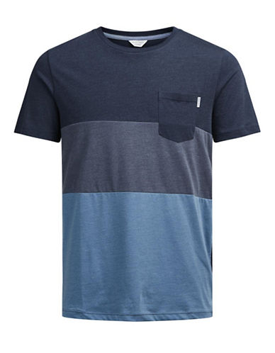 Jack & Jones Jcoking Short Sleeve Crew Neck Tee-BLUE-X-Large