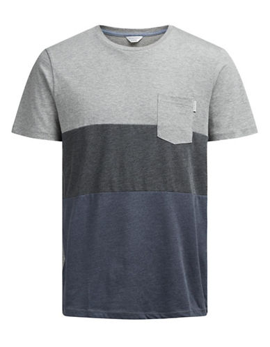 Jack & Jones Jcoking Short Sleeve Crew Neck Tee-GREY-Medium