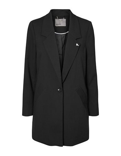 Vero Moda Long Sleeve Blazer-BLACK-Medium