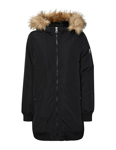 Vero Moda Faux Fur Hooded Jacket-BLACK-Medium 89521373_BLACK_Medium