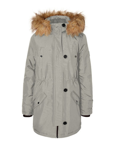 Vero Moda Faux Fur-Trimmed Excursion Expedition Parka-BEIGE-X-Small