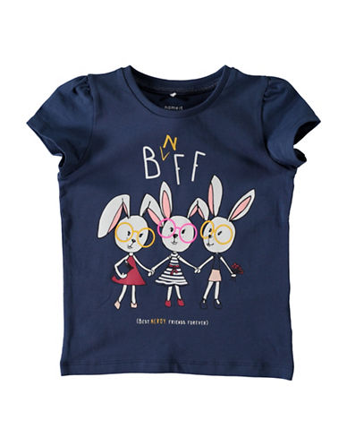 Name It Bnff Graphic Tee-DARK BLUE-3T