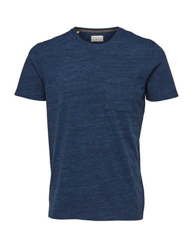 Selected Homme Richard Short-Sleeve T-Shirt-BLUE-Large