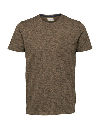 Selected Homme Richard Short-Sleeve T-Shirt-BROWN-X-Large
