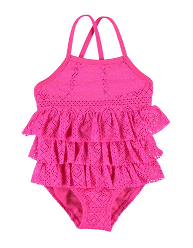 Name It Ruffled One-Piece Swimsuit-PINK-3-4