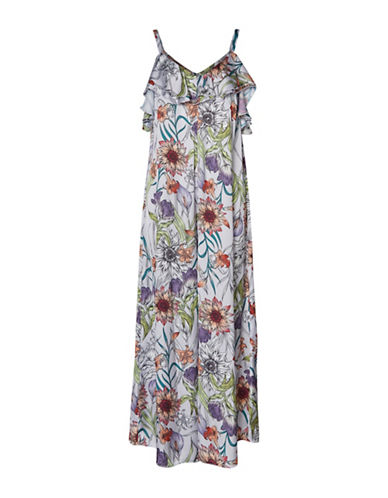 Vero Moda Sara Floral-Print Jumpsuit-LAVENDER FLORAL-Small