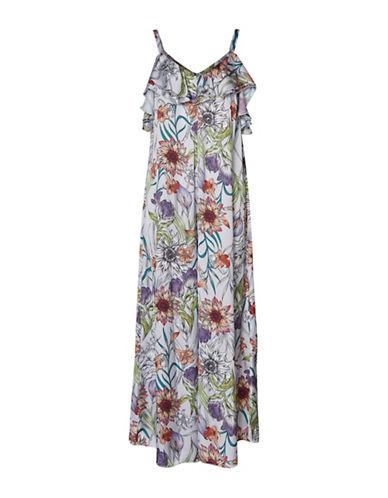 Vero Moda Sara Floral-Print Jumpsuit-LAVENDER FLORAL-X-Small