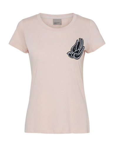 Vero Moda Swallow Badge Organic Cotton Tee-PINK-Small 89105196_PINK_Small