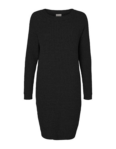 Vero Moda Nanny Sweater Dress-BLACK-Large