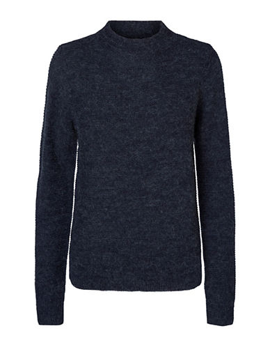 Vero Moda Zoe Joya Long-Sleeve Sweater-BLUE-Large