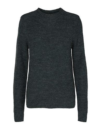 Vero Moda Zoe Joya Long-Sleeve Sweater-GREY-Medium