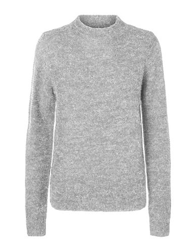Vero Moda Zoe Joya Long-Sleeve Sweater-LIGHT GREY-Small