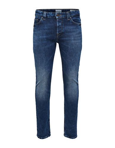 Only And Sons Slim Fitted Jeans-BLUE-34X32