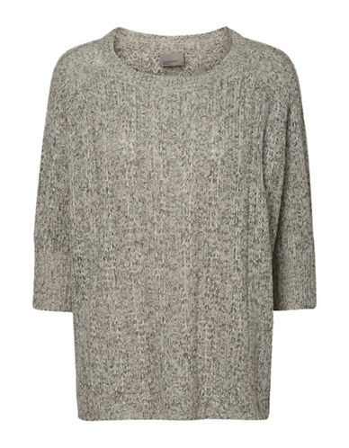 Vero Moda Vmamanda Jive Oversized Sweater-GREY-Large