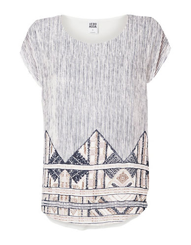 Vero Moda Printed Short Sleeve Top-PINK-Medium 88929207_PINK_Medium