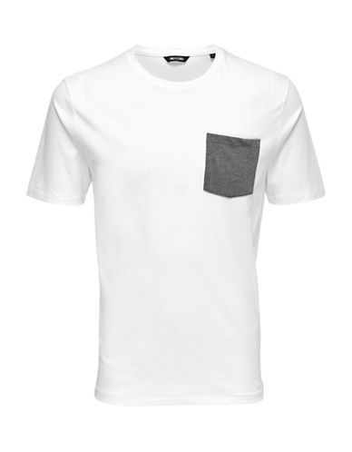 Only And Sons Pocket Cotton Tee-WHITE-X-Large
