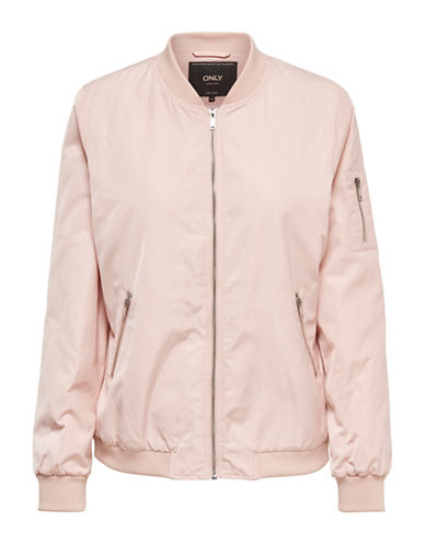Only Zip-Front Bomber Jacket-CAMEO ROSE-Medium