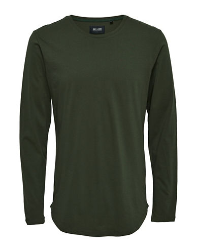 Only And Sons Long-Sleeve T-Shirt-GREEN-X-Large