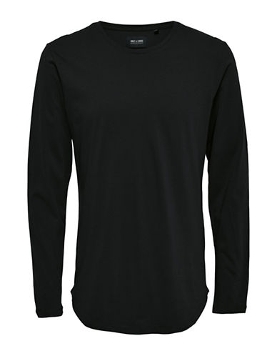 Only And Sons Long-Sleeve T-Shirt-BLACK-Small
