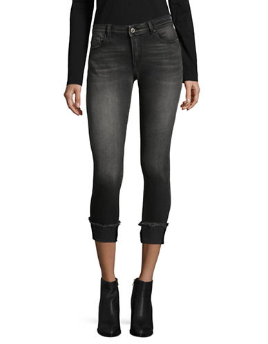 Only Raw Edge Crop Jeans-BLACK-29 32