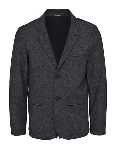 Only And Sons Melange Casual Blazer-GREY-XX-Large