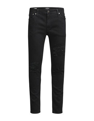 Jack & Jones Ripped Jeans-BLACK-32X34