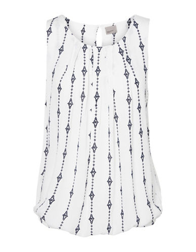Vero Moda Juliana Pleat Front Top-WHITE-Medium