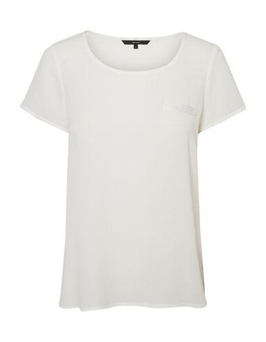 Vero Moda Round Neck Short Sleeve Tee-WHITE-Large