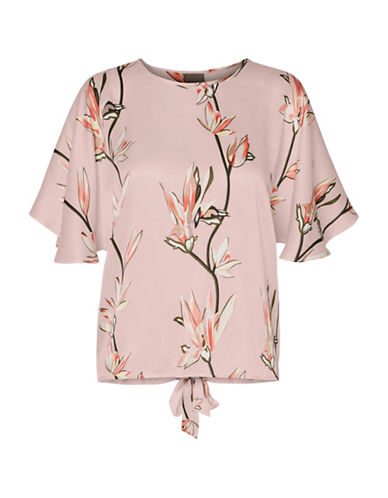 Vero Moda Vmparadise Floral Wide Sleeve Top-PINK-X-Small 89174660_PINK_X-Small