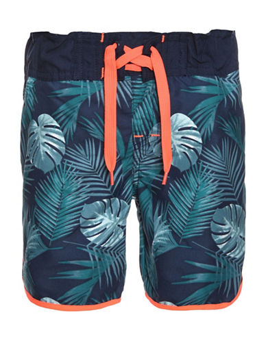 Name It Botanical Print Swim Shorts-BLUE-3