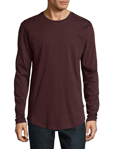 Only And Sons Long-Sleeve T-Shirt-RED-Small
