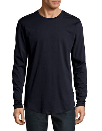 Only And Sons Long-Sleeve T-Shirt-DARK BLUE-Large